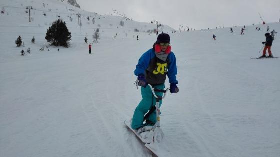 Snowboard bike