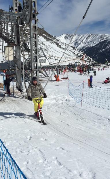 Snow scoot actividad física y bienestar