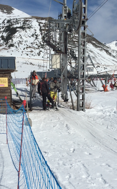 Snow scoot telearrastre actividad física y bienestar